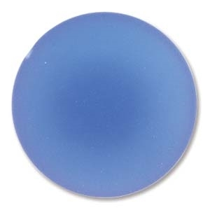 Lunasoft Cabochon - 24mm Round - Matte Blueberry - Sold Individually