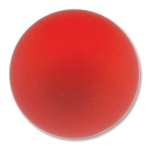 Lunasoft Cabochon - 24mm Round - Matte Cherry - Sold Individually