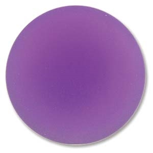 Lunasoft Cabochon - 24mm Round - Grape - Sold Individually