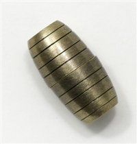 Magnetic Clasp - Honey Comb Old Gold - 8x17mm