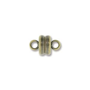 MGN06ABP - Magnetic Clasp 6mm Antique Brass Plate
