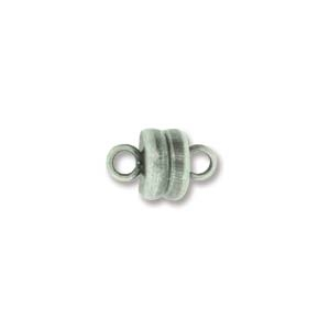 MGN06ASP - Magnetic Clasp 6mm Antique Silver Plate