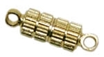 Magnetic Gold Plated Brass Corrugated Oval 11x5mm Clasp