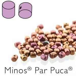 Minos® par Puca® : MNS253-00030-01620 - Yellow Gold Metallic Iris - 4 Grams - Approx 90-95 Beads