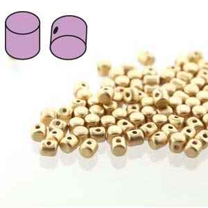 Minos® par Puca® : MNS253-01710 - Matte Light Gold - 4 Grams - Approx 90-95 Beads