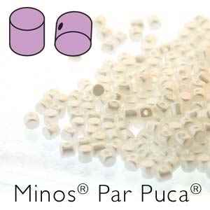 Minos® par Puca® : MNS253-02010-25001 - Pastel White - 4 Grams - Approx 90-95 Beads