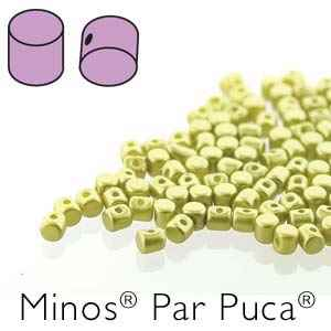 Minos® par Puca® : MNS253-02010-25021 - Pastel Lime - 4 Grams - Approx 90-95 Beads