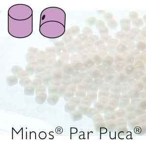 Minos par Puca : MNS253-03000 - Opauqe White - 4 Grams - Approx 90-95 Beads