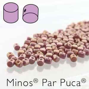 Minos® par Puca® : MNS253-03000-14495 - Opaque Violet/Gold Luster Mix - 4 Grams - Approx 90-95 Beads