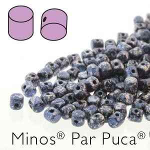 Minos par Puca : MNS253-23980-45706 - Tweedy Blue - 4 Grams - Approx 95-100 Beads