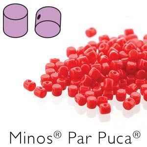 Minos® par Puca® : MNS253-93200 - Opaque Coral Red - 4 Grams - Approx 90-95 Beads