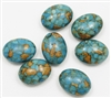MT20X15 - 20x15mm Mosaic Blue Turquoise Oval, 1 Piece
