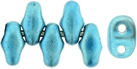 MiniDuo-24206 - MiniDuo 2x4mm : Metalust Turquoise - 25 Count
