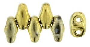 MiniDuo-26440 - MiniDuo 2/4mm : Polished Brass - 25 Count