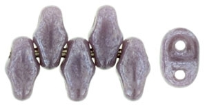 MiniDuo-L23020 - MiniDuo 2/4mm : Luster - Opaque Amethyst - 25 Count
