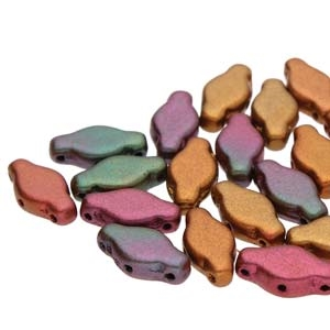 NAV61200030-01640 - Navette Beads 6x12mm Violet Rainbow - 25 Count