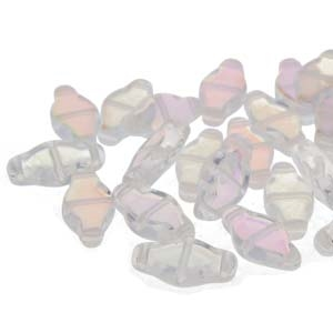 NAV61200030-28701 - Navette Beads 6x12mm Crystal AB  - 25 Count