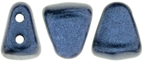 NIB-BIT-79032 - NIB-BIT 6/5mm : Metallic Suede - Dk Blue - 25 Count