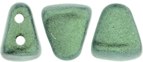NIB-BIT-79051 - NIB-BIT 6/5mm : Metallic Suede - Lt Green - 25 Count