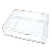 Organizer Clear Plastic Box for Flip Top Tubes - 4 5/8 x 3 1/2