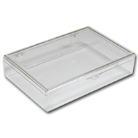 Organizer Clear Plastic Box for Flip Top Tubes - 6 x 4 x 1 1/4 Inches