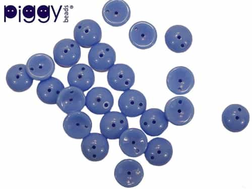 PB-33100 - Czech Piggy Beads 4x8mm - Opaque Blue - 25 Beads