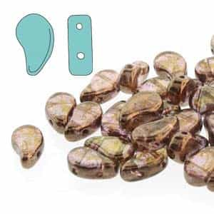 PD8500030-15695 - PaisleyDuo 8x5mm - Crystal Senegal Brown - 25 Count