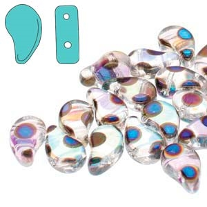 PD8500030-27894DO - Crystal Full AB Azuro Dot - PaisleyDuo 8x5mm - 25 Count