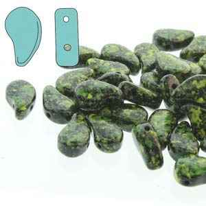 PD8523980-24405 - PaisleyDuo 8x5mm - Jet Green Confetti - 25 Count