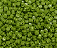 Preciosa Pellet Beads 4x6mm - PE53420 - Opaque Lime Green - 25 Beads