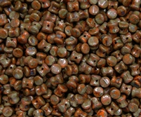 Preciosa Pellet Beads 4x6mm - PE93120-86800 - Opaque Hyacinth Travertin - 25 Beads