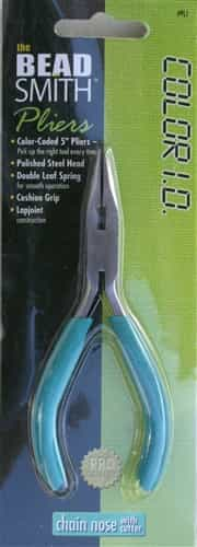 "BeadSmith Color I.D. 5"" Chain Nose Pliers with Cutter"