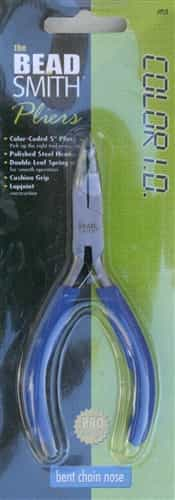 "BeadSmith Color I.D. 5"" Bent Chain Nose Pliers"