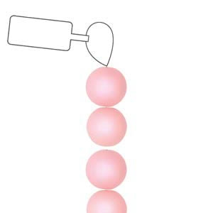 POL06RN-LR-ST - 6mm Round Polaris Beads - Light Rose - 25 Beads per Strand