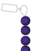 POL06RN-PU-ST - 6mm Round Polaris Beads - Purple - 25 Beads per Strand