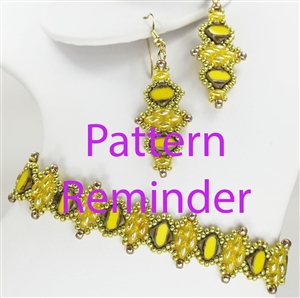 2016 Spring Fashion Color Buttercup Bracelet & Earrings Reminder