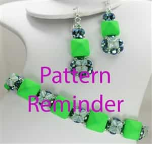 2016 Spring Fashion Color Green Flash Bracelet & Earrings Reminder