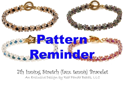 7th Inning Stretch Bracelet Pattern Reminder