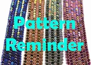 All Beads CZ Gekko Bracelet Pattern Reminder