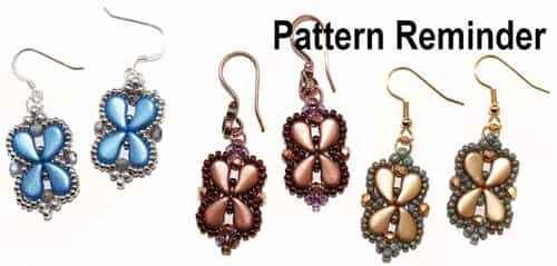 BeadSmith Exclusive Arabesque Earrings Pattern Reminder