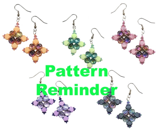 BeadSmith Exclusive Baroque Quartet Earrings Pattern Reminder