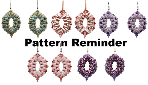 BeadSmith Exclusive Cali Earrings Pattern Reminder