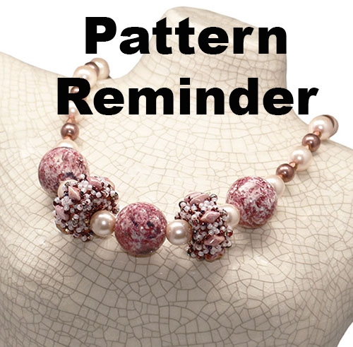 BeadSmith Exclusive Corona Beaded Beads Necklace Pattern Reminder