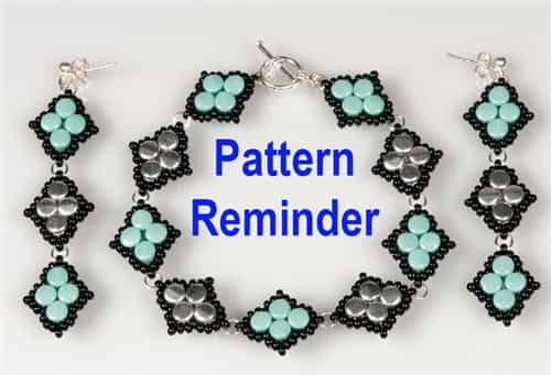 BeadSmith Exclusive Diamond Pellet Bracelet & Earrings Pattern Reminder
