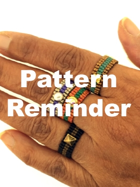 BeadSmith Exclusive Finger Dressing Ring Pattern Reminder