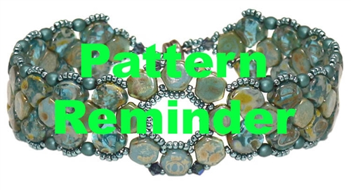 BeadSmith Exclusive Flowering Ginko Bracelet & Earrings Pattern Reminder