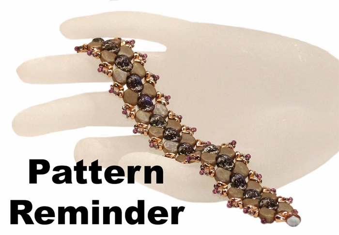 BeadSmith Exclusive Ginko Bridges Bracelet Pattern Reminder