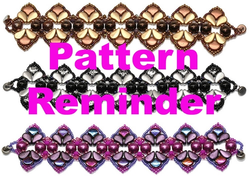 BeadSmith Exclusive Ginko Fusion Bracelet Pattern Reminder