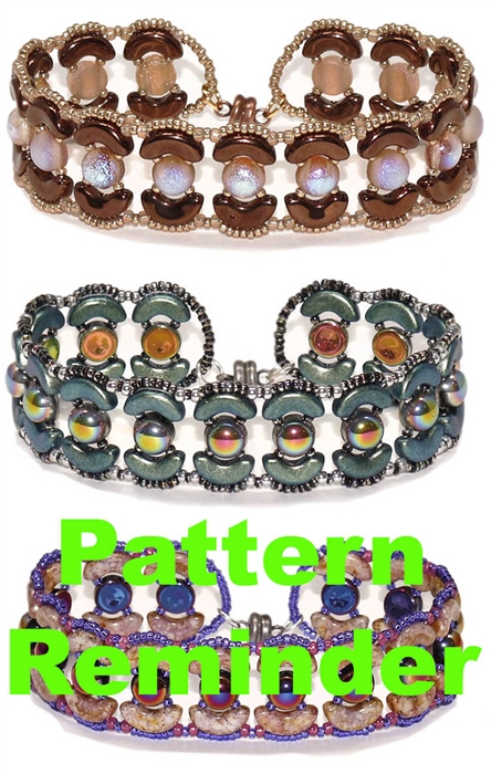 BeadSmith Exclusive Hailey Bracelet Pattern Reminder