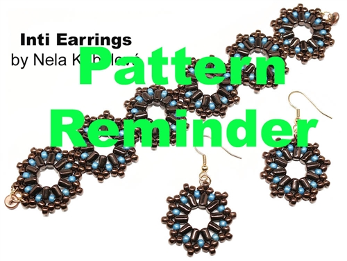 BeadSmith Exclusive Inti Earrings Pattern Reminder